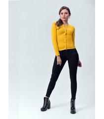 blusa dama mostaza di bello jeans  classic blouse ref b209