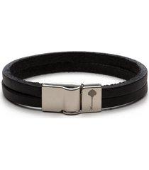 pulseira key design - huerta silver black