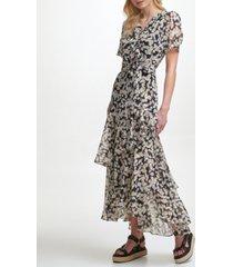 karl lagerfeld ruffled maxi dress