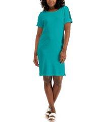 karen scott cotton split-sleeve dress, created for macy's