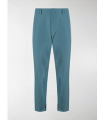 prada cropped techno stretch trousers