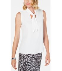 kasper tie-neck sleeveless top