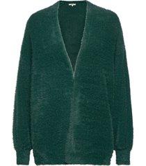 ladies cardigan stickad tröja cardigan grön garcia