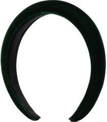 jennifer behr tori velvet headband - green