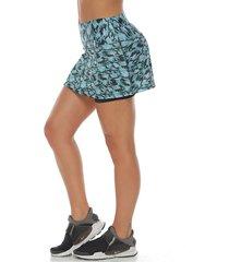 falda deportiva con licra interior, color negro para mujer