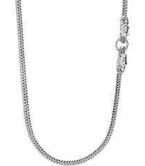 'legends naga' sapphire sterling silver double head necklace