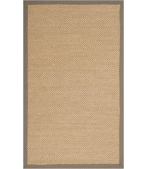 safavieh natural fiber maize and gray 3' x 5' sisal weave area rug