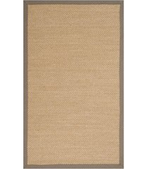 safavieh natural fiber maize and gray 3' x 5' sisal weave rug
