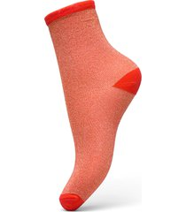 dina solid lingerie hosiery socks röd becksöndergaard