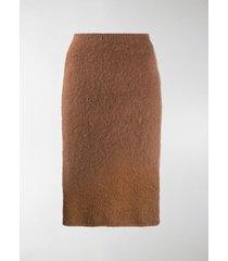 versace fluffy pencil skirt