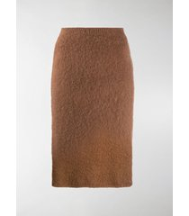 versace fluffy pencil skirt