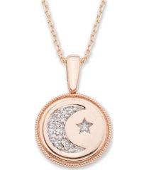 diamond (1/20 ct. t.w.) celestial pendant in 14k yellow or rose gold