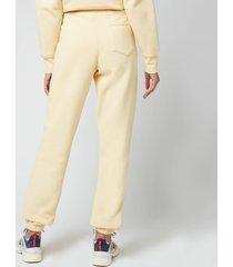 holzweiler women's gabby sweat trousers - yellow - l