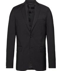 hopper soft comfort wool blazer colbert zwart j. lindeberg