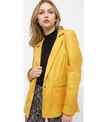 blazer ash desestructurado amarillo - calce holgado