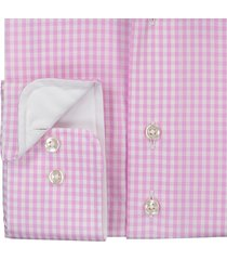 sleeve7 overhemd lichtroze poplin ruit