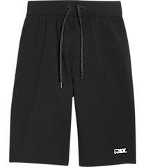 msx by michael strahan modern fit fleece knit shorts black