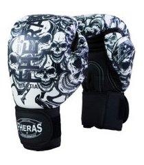 luva boxe muay thai fheras new top pró caveira 14 oz