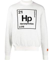 heron preston periodic table hp sweatshirt - white