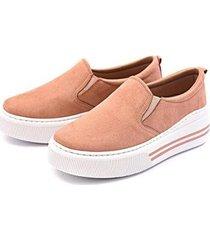 sapatênis dhl calçados slip on flatform feminino - feminino