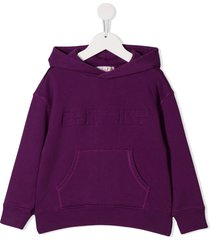 bonpoint printed logo hoodie - purple