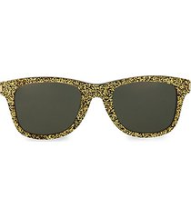 50mm goldtone classic square sunglasses