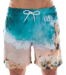 shorts de praia curto masculino paisagem 613 mash