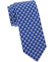 cat-print silk tie