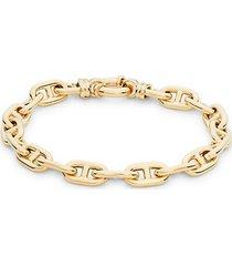 14k gold interlock chain bracelet