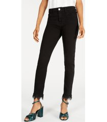 jen7 by 7 for all mankind frayed ankle skinny jeans