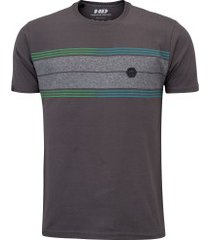 camiseta hd estampada long stripe 6253a - masculina - cinza escuro