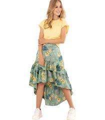 falda elsa verde ragged pf31320163
