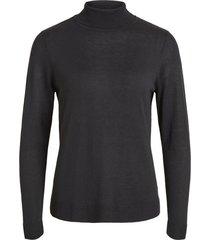 vila viwendis l / s rollneck knit top - noos black