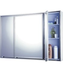armário para banheiro de sobrepor 71x48,5cm cromado