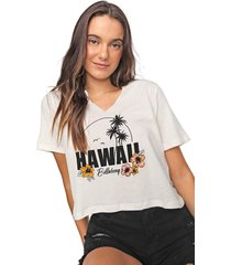 blusa billabong hawaii off-white