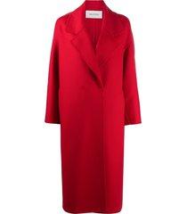 valentino wraparound mid-length coat - red