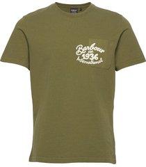 b.intl lunya pockt tee t-shirts short-sleeved grön barbour