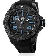 relógio everlast e620 53mm silicone masculino