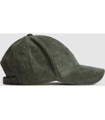 reiss kane - corduroy baseball cap in sage, mens