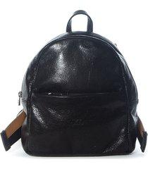 cartera de cuero negra xl extra large bely mochila