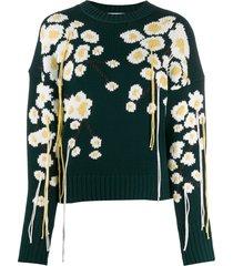 enföld winter sakura knit sweater - green