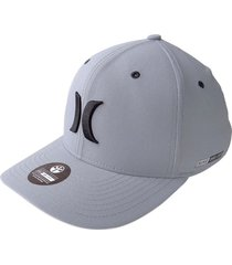 gorra hurley dri-fit one & color squadron s/m-gris claro s/m