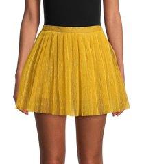 redvalentino women's tulle mini skirt - yellow - size 42 (10)