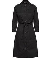 selby cole dress jurk knielengte zwart mos mosh