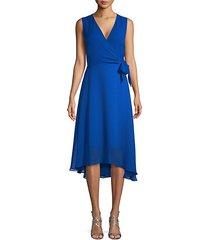 high-low self-tie a-line dress