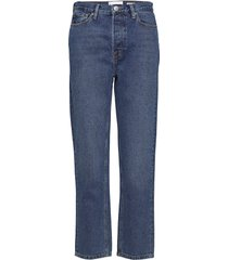 mandela hw straight jeans wash oxford rechte jeans blauw tomorrow