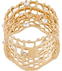 aurelie bidermann 'vintage lace' diamond ring - metallic