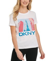 dkny glitter empire state building t-shirt