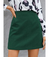 minifalda de pana de cintura alta de yoins basics