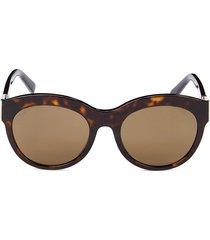 tod's women's 55mm round sunglasses - havana